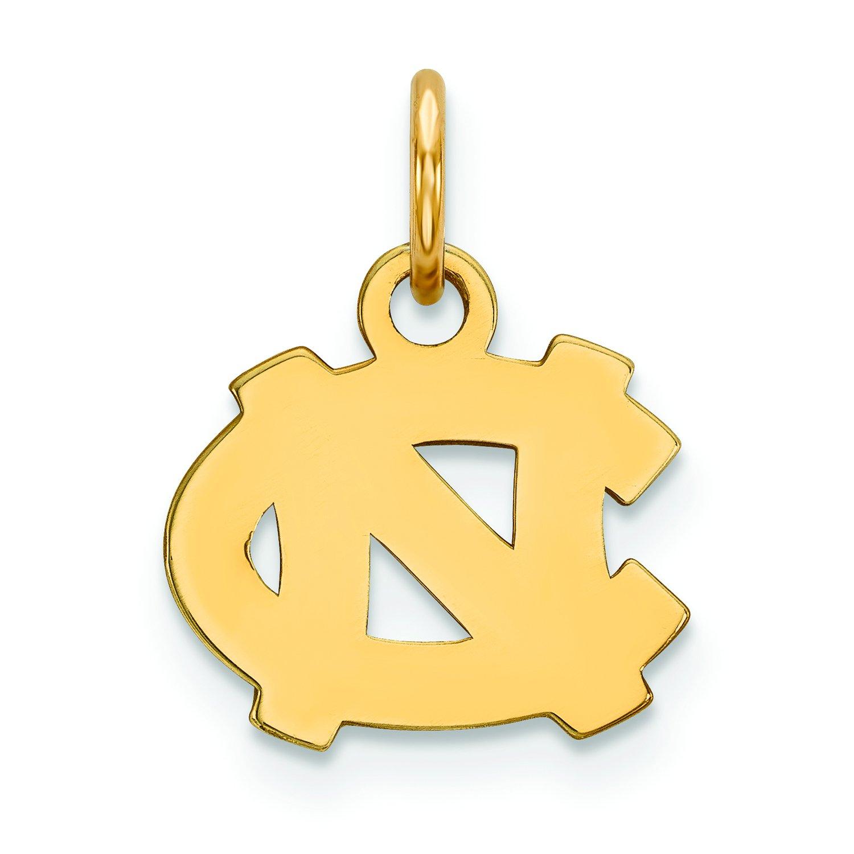 North Carolina Extra Small ( 3 / 8インチ)ペンダント( 14 Kイエローゴールド) B01JAP28ZA