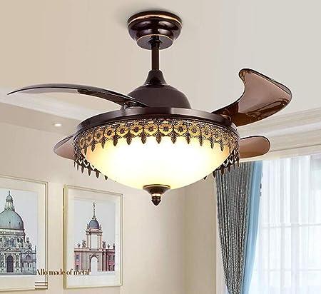 Ventilador de techo retráctil con la iluminación de la lámpara del ...