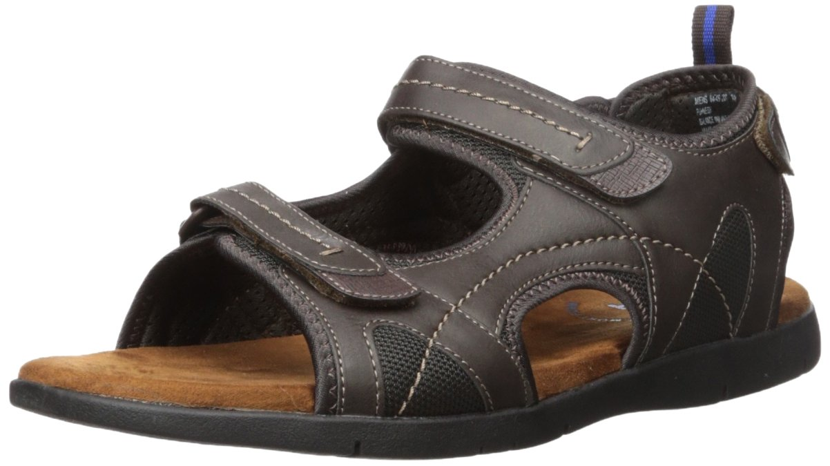 Nunn Bush Men's Rio Grande Three Strap River Sandal, Brown, 8 Wide US