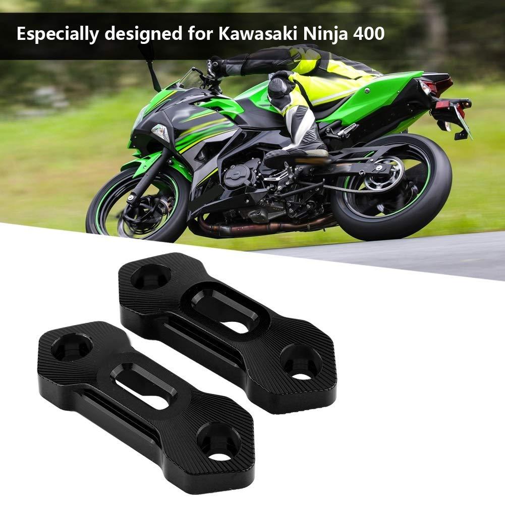 Vobor Motorcycle Rearview Mirror Base Decorative Cover Motorcycle Mirror Block Off Base Plates for Kawasaki Ninja 400