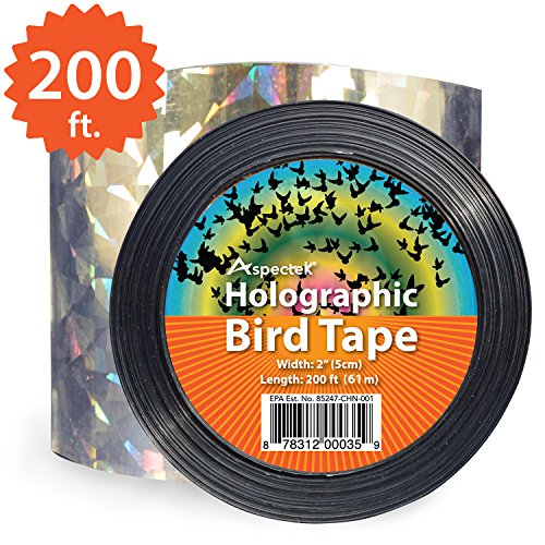Scare Tape (Double Sided Bird Repellent Ribbon Scare Birds Away and Protect Your Garden 200)