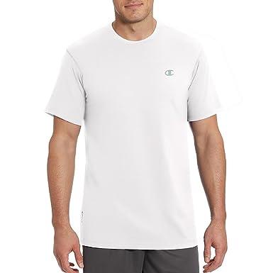 e3b38711f033 Amazon.com: Champion Vapor Mens Cotton Basic Tee T0351_White: Clothing