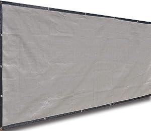 Alion Home Classy Durable Privacy Screen for Pool, Railing, Backyard Deck, Patio, Fence, Porch - Smoke Tan (4' x 12')