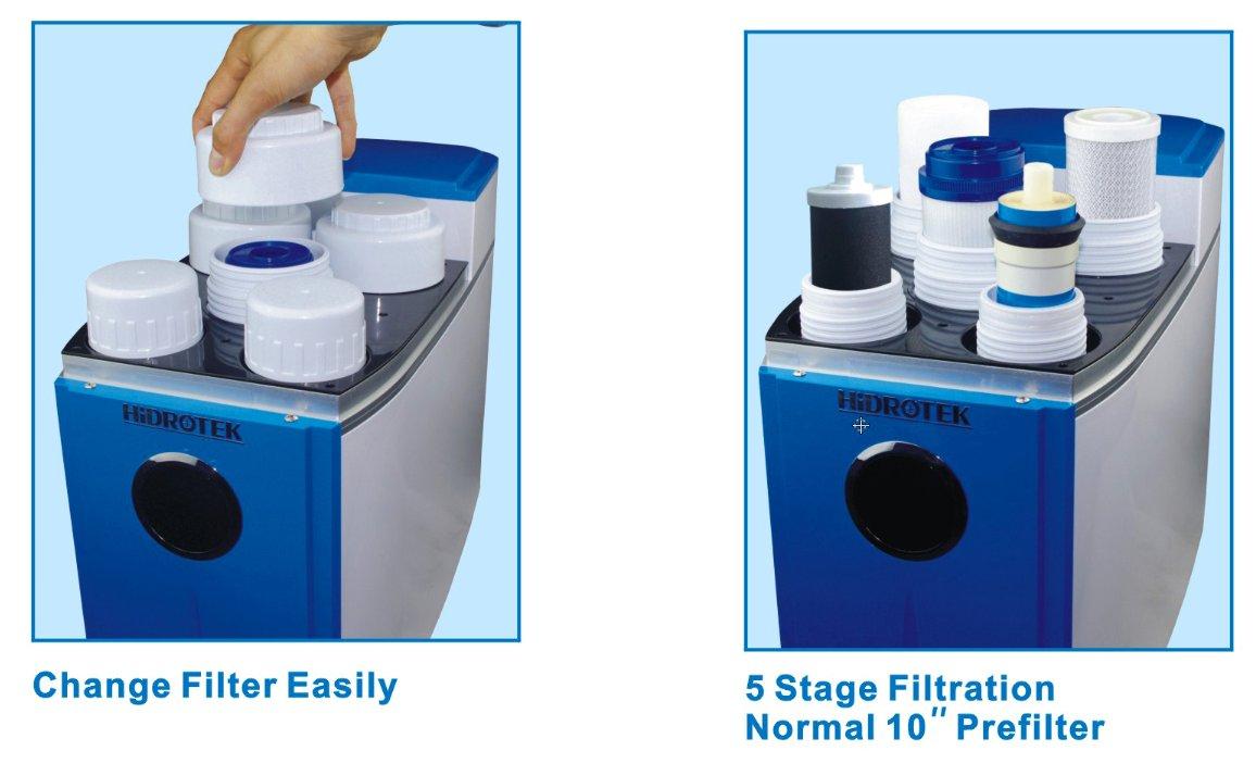 Osmosis inversa COMPACTA 75GPD Hidrotek Depuragua Blue con Bomba ...