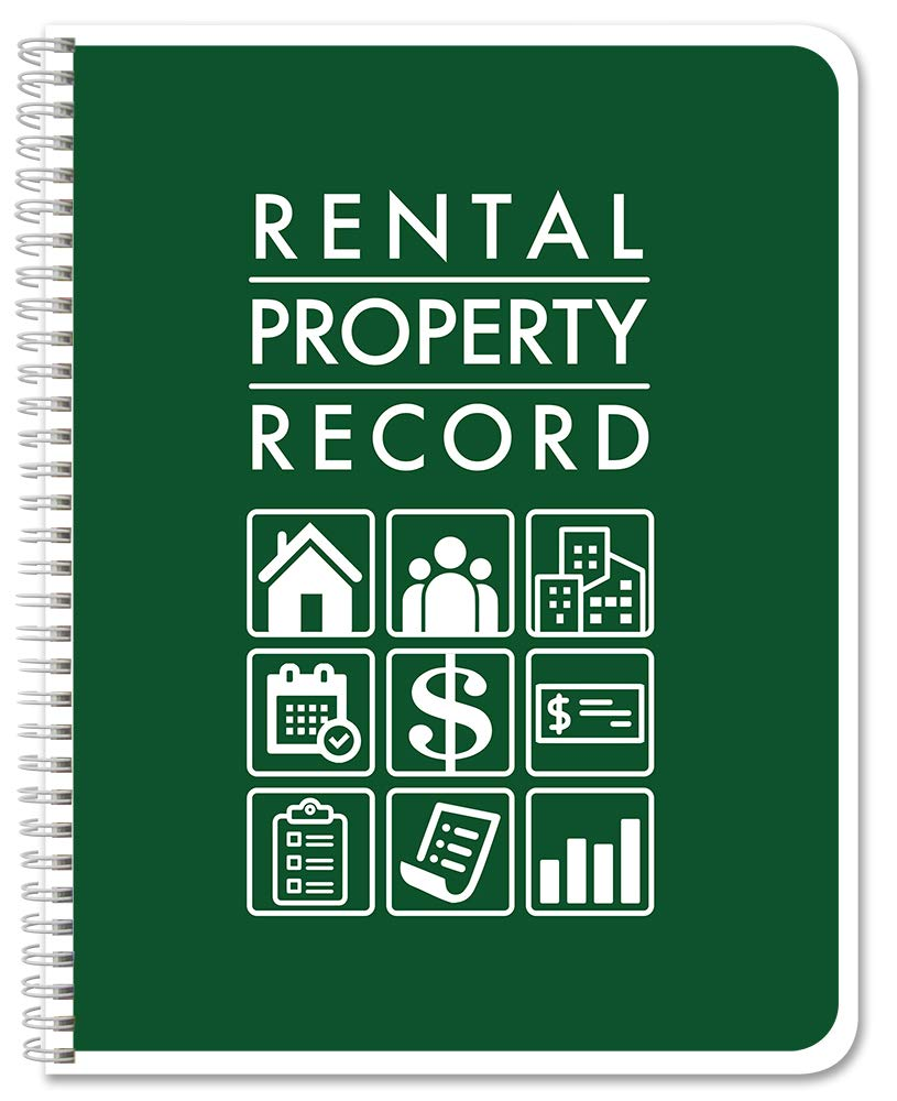 BookFactory Rental Property Record Book/Rental Property Log Book - Wire-O, 100 Pages, 8.5'' x 11'' (LOG-100-7CW(RentalProperty)) by BookFactory