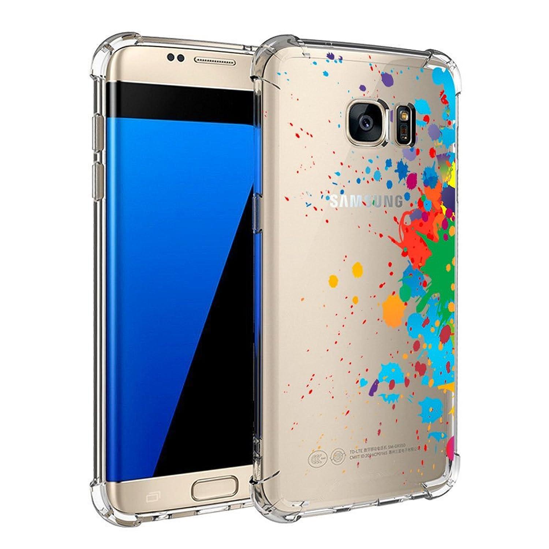 Funda Samsung Galaxy S7/S7 Edge Golbsky, Carcasa Silicona Transparente Protector TPU Ultra-delgado Anti-Ara?azos Case para Teléfono Galaxy S7/S7 Edge Caso Caja Estuche