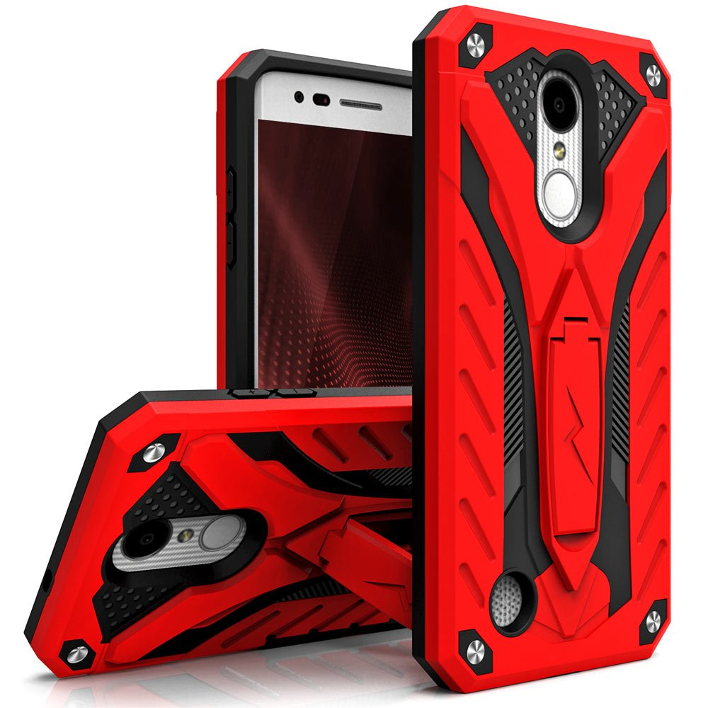 LG Aristo Zizo Case Kickstand Shockproof Military Grade Protection Case.