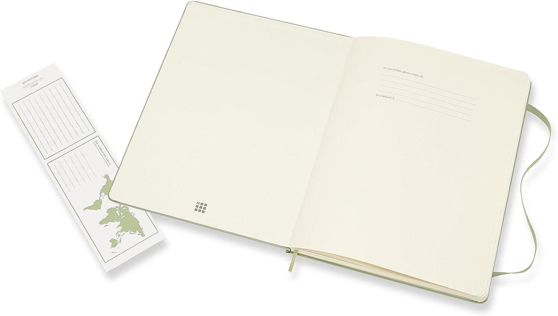 Moleskine Classic Notebook XL Plain Willow Green Hardcover 8055002855150