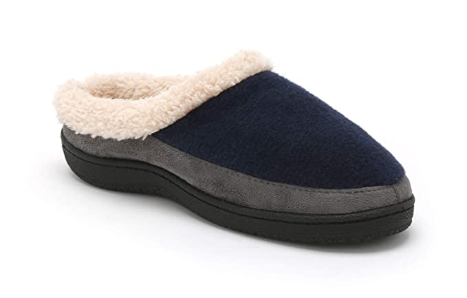 d78be81a0 Pembrook Men's Slippers – Comfortable Memory Foam + Wool. Indoor and Outdoor  Non-Skid Sole