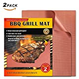 LauKingdom Grill Mat 100% Non-stick BBQ Grilling Mat, Reusable Barbecue Accessories (Set of 2) 10 Year Warranty