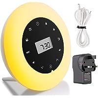 Premium Wake Up Light Alarm Clock Wake Up Lamp Radio White Noise Sound Sleep Light Bedside Lamp Colored Mood Light Sunrise Sunset Simulation Touch Control Multifunction