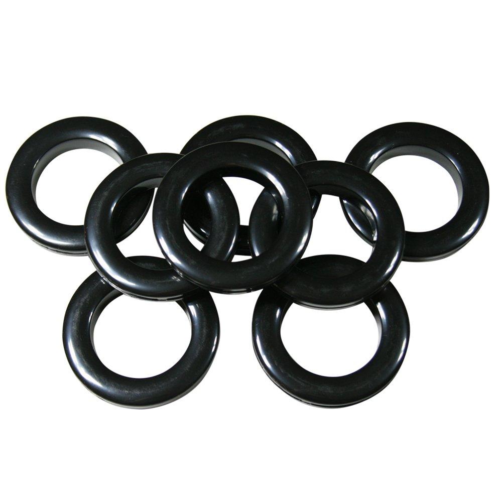 1 3//8 #10 Plastic Grommet BLACK 8 Sets
