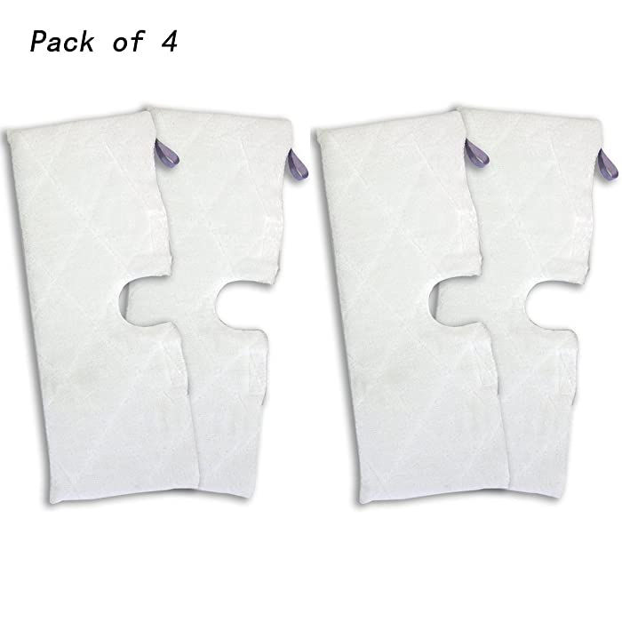 eoocvt 4pcs Replacement XL Microfiber Cleaning Pads for Shark Steam Pocket Mop XLT3501