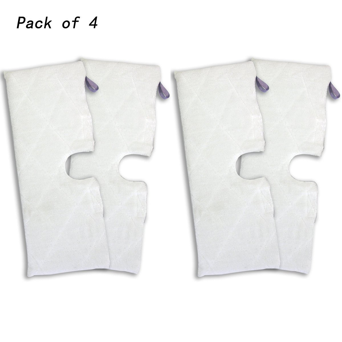 Agile-shop 4pcs Replacement XL Microfiber Cleaning Pads for Shark Pocket Steam Mop XLT3501 by Agile-shop