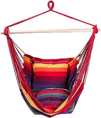 Lcyy-swing Deluxe Acolchado de algodón Hamaca Colgante Silla ...