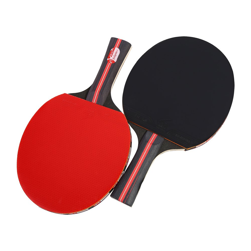 1 Pair Table Tennis Paddles Professional Ping Pong Rackets with Storage Bag VGEBY
