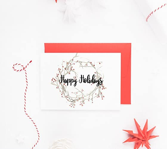 happy holidays cards box set holiday card set christmas card boxed set set - Happy Holidays Card