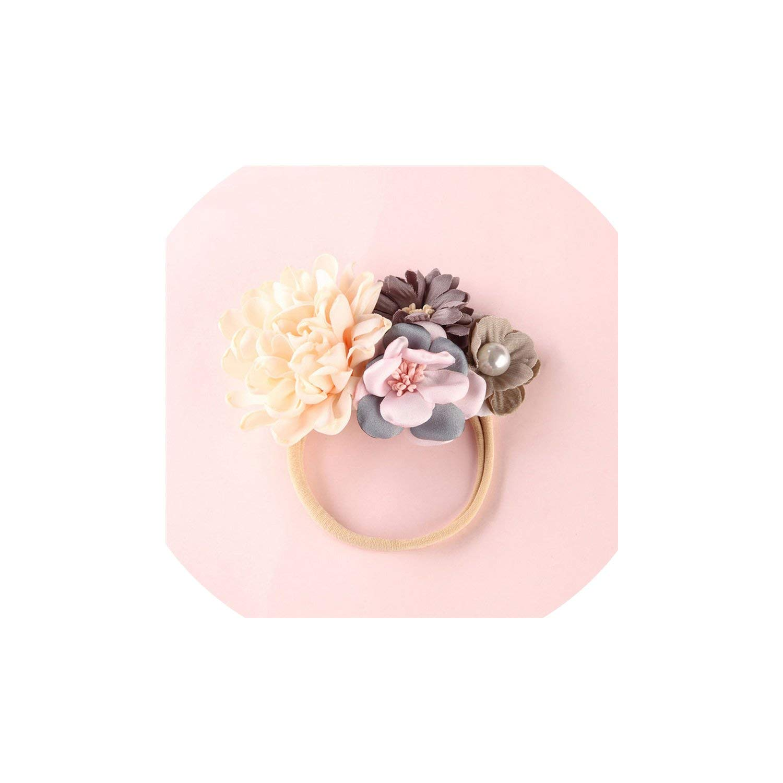 Fashion Florals Headband Newborn Baby Elastic Princess Hairbands Cute Headwear