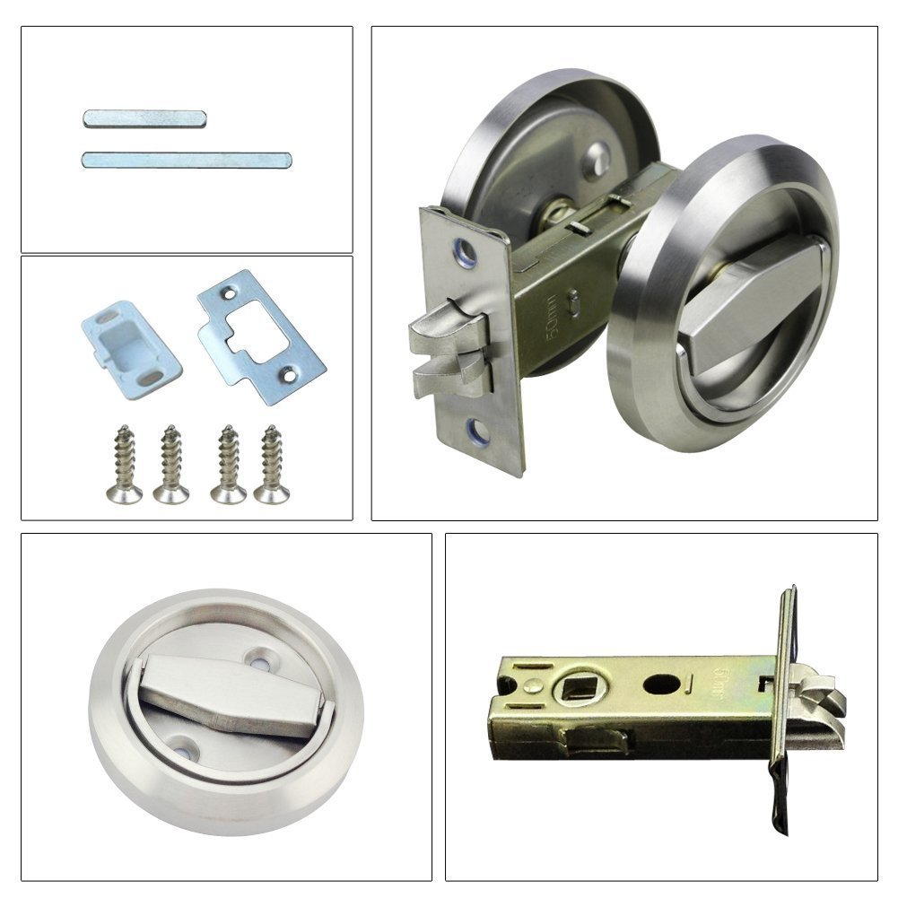 Stainless Steel 304 Recessed Install Cup Door Locks Doors Pulls Locks Background Lockers Knobs