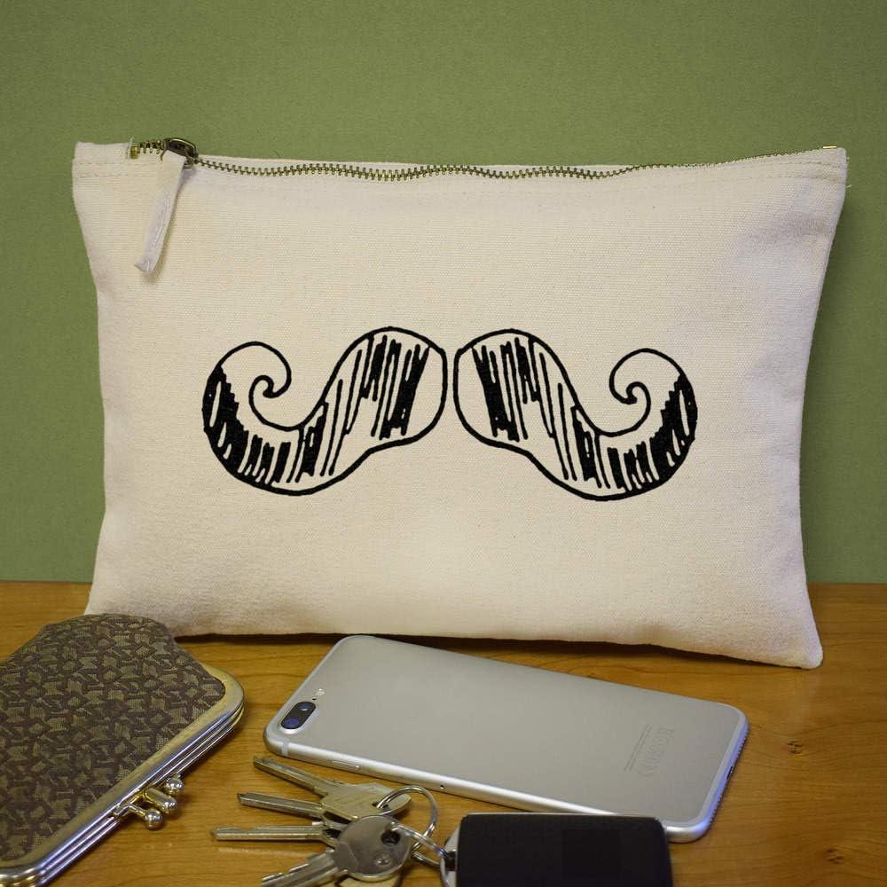Moustache Canvas Clutch Bag CL00001246 Accessory Case