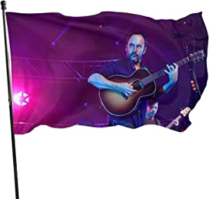EUKhan Music Dave Matthews 3x5 Ft Rock, Jazz, Rap and Metal Music Flag, Suitable for Balcony Garden and Outdoor Banners Flag, Uv Fade Resistant Flag