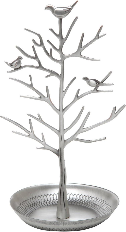 Soporte para joyas Clothin enforma deárbol con pájaros. Para colgar y almacenar collares, pendientes o pulseras
