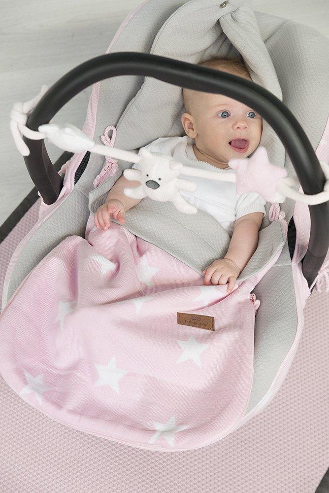 Babys Only 915594 Bezug f/ür Babyschale 0 weiss Stern Baby rosa