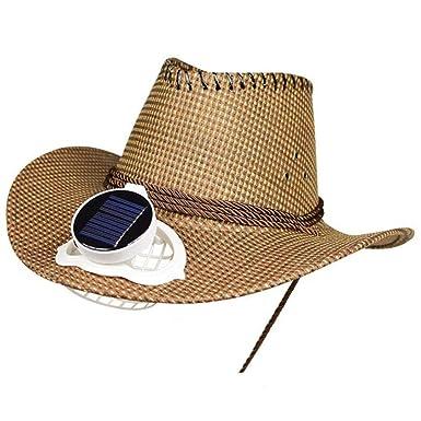 Fan Cap con Ventilador Solar Sombrero para El Sol Verano Gorra De ...