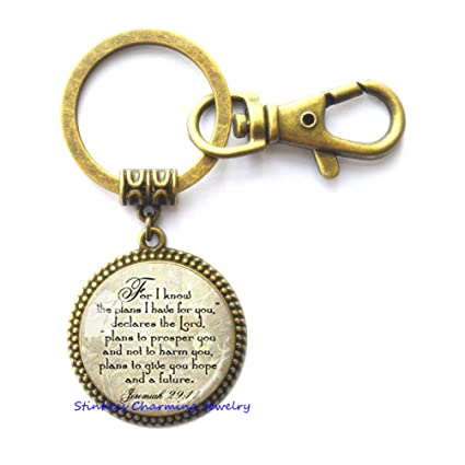 Jeremiah 29 11 Christian Key Ring Scripture Jewelry Christian Gift for  Christian Verse Keychain Spiritual eb98676b2
