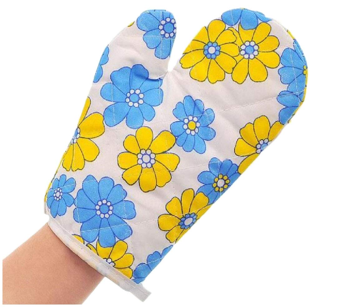RSunshine Heat Resistant with Quilted Liner Hot Surface Handler Perfect for Kitchen/Grilling Kitchen 1 Pair Oven Hot Mitts AS1 One Size