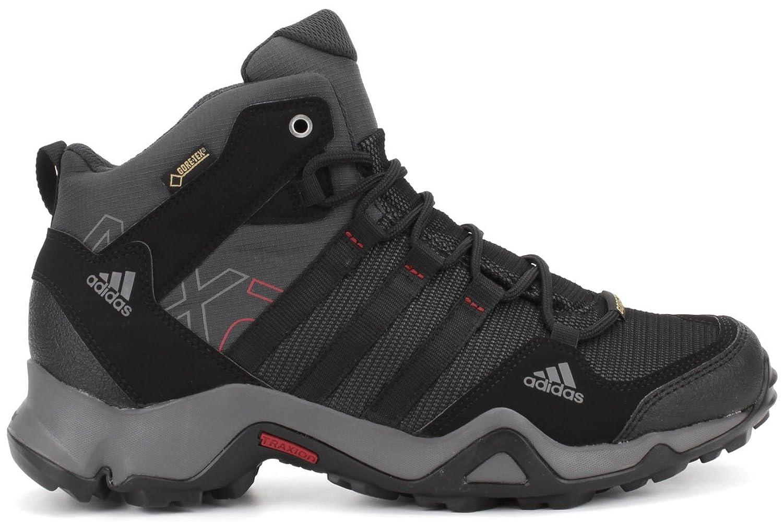 Adidas Men's AX2 Mid GTX, Dark Shale/Black/Light Scarlet, 9