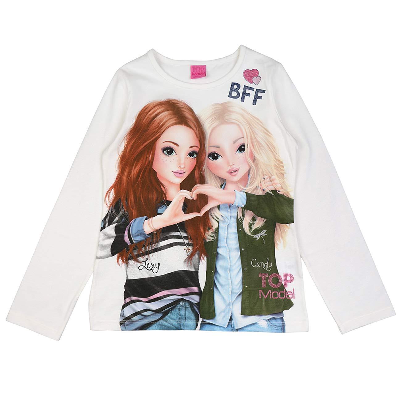 Top Model Mädchen Langarm Shirt Lexy & Christy 85027 Ecru
