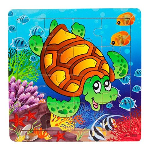 Dreamyth Wooden Kids 16 Piece Jigsaw Toys For Children Education And Learning Puzzles Toys (16)
