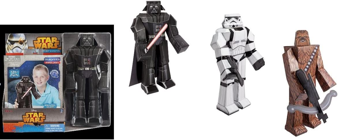 5 Count Star Wars Heroes and Villains Blueprints Paper Craft Party Supplies