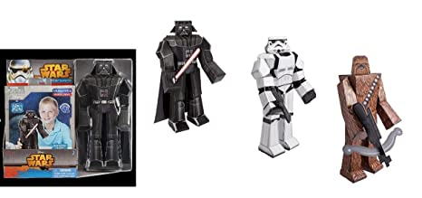 Amazon star wars 12 blueprint papercraft characters x 3 star wars 12quot blueprint papercraft characters x 3 darth vader chewbacca and malvernweather Images