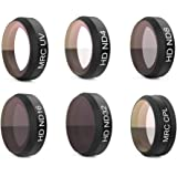 PGYTECH HD Kamera Filter Kit Objektiv Filter für DJI MAVIC AIR UV + ND4 + ND8 + ND16 + ND32 + CPL HD Kamera Filter Kit Objektiv Filter für DJI MAVIC AIR(Filtert sechs Farben)