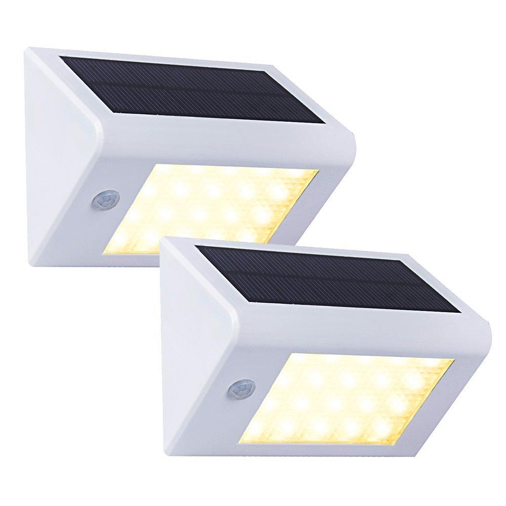ソーラー20 LED 壁掛照明 白 T-SUN B01LSOB9CO 14740 White(3000K)-2 Pack White(3000K)2 Pack