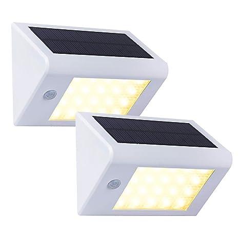 T-SUN Solar lámpara de pared para exteriores,2 Unidades 20 LEDs Solar Lampara