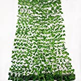 Rurality 192 Feet - 24 Artificial Ivy Artificial Vines Fake Hanging Ivy English ivy Silk Greenery Wedding Party Garlands