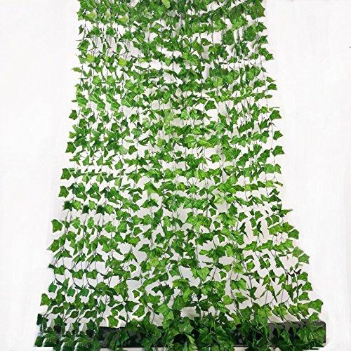 Rurality 192 Feet - 24 Artificial Ivy Artificial Vines Fake Hanging Ivy English ivy Silk Greenery Wedding Party (English Ivy Vine)