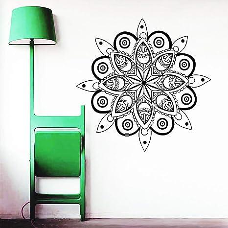 57x56 cm Mandala tatuajes de pared Yoga Ganesh Decal dormitorio de ...