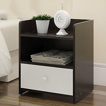 Einfacher Moderner Nachttisch Schublade Nachttisch Schlafzimmer  Lagerschrank Schließfächer] D