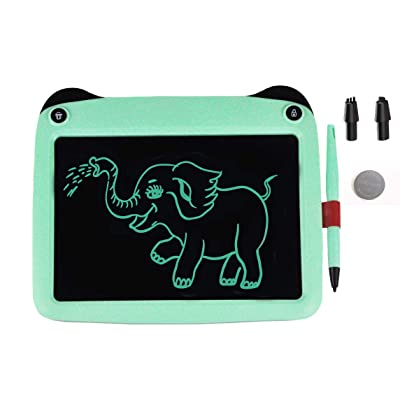 JRD&BS WINL 9 inch Electronic Drawing Pads for Kids, Portable Reusable Erasable Writer,Elder Message Board,4-8 Years Old Boys for Digital Handwriting Pad Doodle Board for School(Green33): Office Products