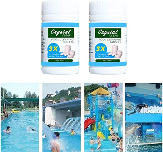 2 Bottles Pool Cleaning Effervescent Chlorine Tablets Cage Effectively Purify Swimming Pool Clarifier Amazon Ca Home Kitchen