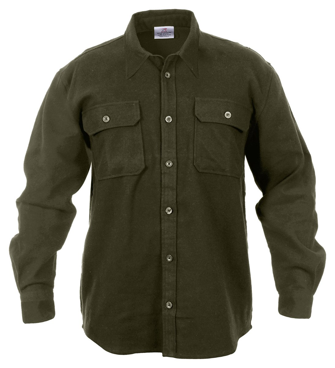Victorian Men's Shirts- Wingtip, Gambler, Bib, Collarless Rothco Heavy Weight Flannel Shirt $43.19 AT vintagedancer.com