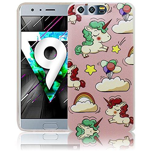 Huawei Honor 9 Emoji Smiley Funda protectora de silicona Funda protectora suave Funda protectora contra el parachoques Funda protectora para teléfono móvil Funda protectora para teléfono móvil Funda p Baby Einhorn