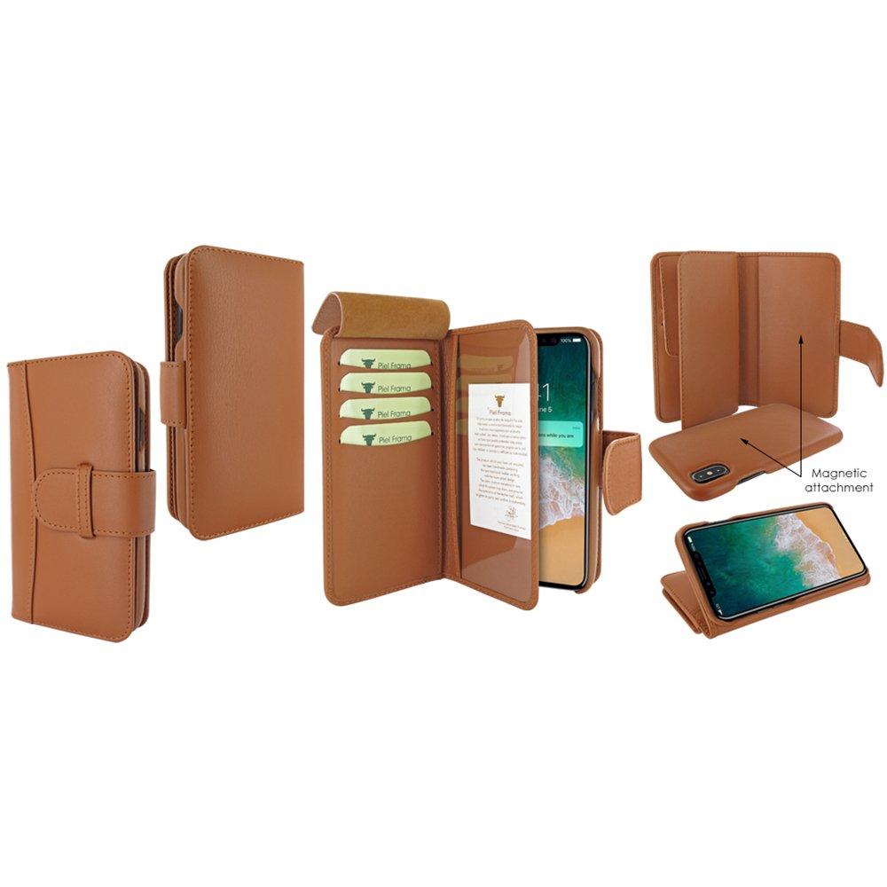 Piel Frama U793C Case ''WalletMagnum'' for iPhone X - Tan