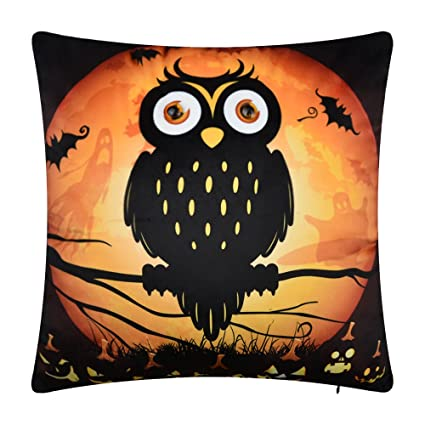 Colorful Owl Animal Print Home Chairs Sofa Decor Pillow Case Throw Cushion Cover