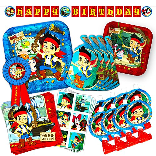 Disney Junior Jake and the Neverland Pirates Party Supplies Set -- Birthday Party Decorations, Party Favors, Plates, Napkins and More!