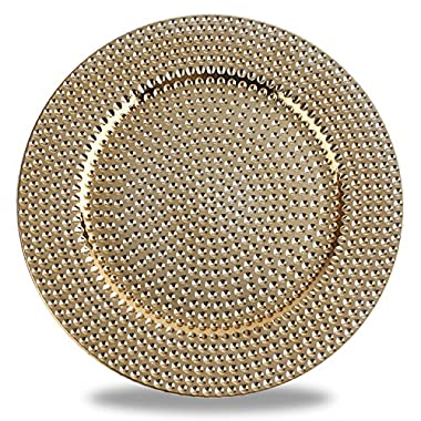 Fantastic:) Hammer with Metal Finishing 13 x13  Sepcial Design Round Charger Plates (Set of 6, Hammer Gold)